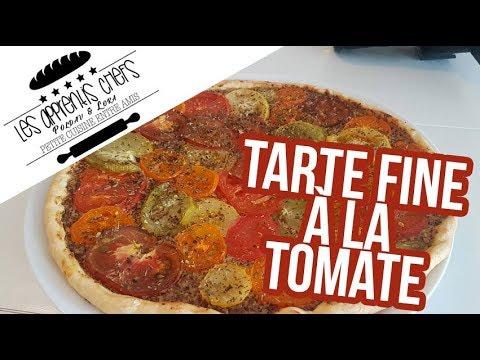 Tarte Fine A La Tomate Les Apprentis Chefs Youtube
