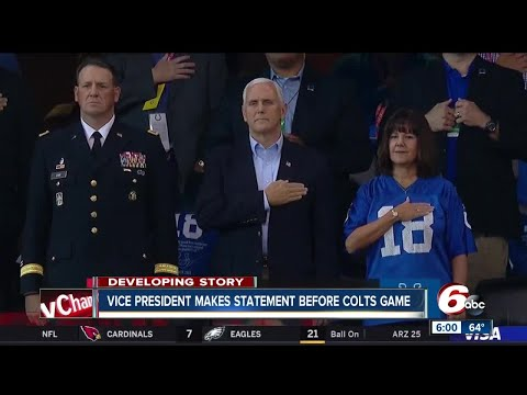 Vice President Pence leaves Colts game after 49ers kneel during National Anthem