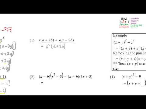 Factorisation - S2-57 | Online Tuition Penang Malaysia
