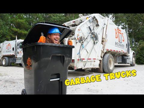 Garbage Trucks with Handyman Hal | Trash pickup with Garbage Truck