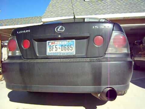 2002 Lexus Is300 Custom Exhaust  YouTube