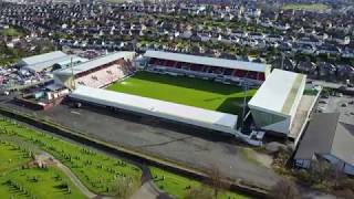 East End Park home of Dunfermline Athletic F.C. - The Pars. Aerial ...