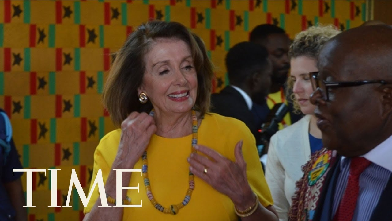 Nancy Pelosi Moved By Visit To Historic Slave Sites Time Youtube