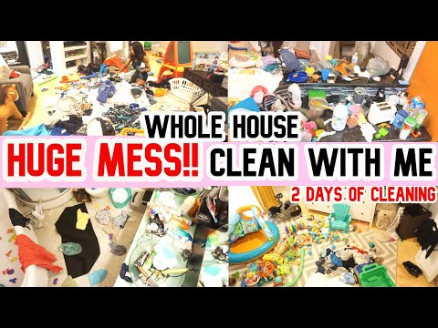 HUGE MESS// COMPLETE DISASTER //CLEAN WITH ME //CLEANING MOTIVATION//SAHM