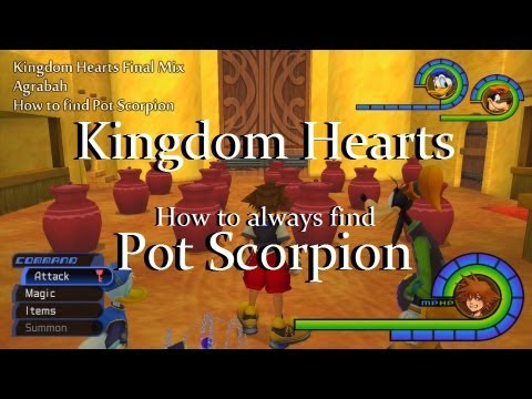 KINGDOM HEARTS - ALWAYS find Pot Scorpion - EASY MYTHRIL STONES