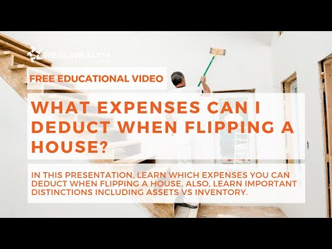 What Expenses Can I Deduct When Flipping A House