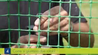 Rete recinzione plastica: legatura e fissaggio della rete