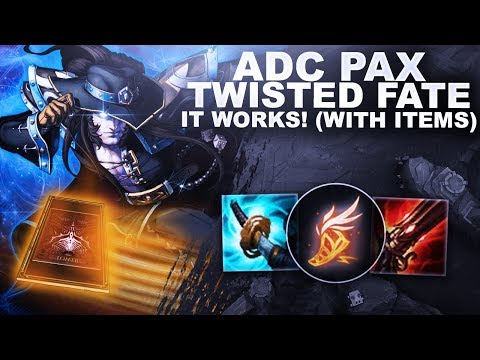 PAX TWISTED FATE ADC, IT WORKS! *With Items* | League of Legends