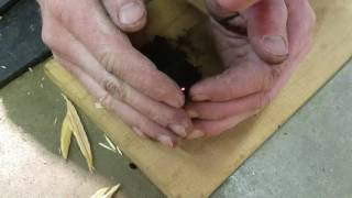 Fire starting with flint (ferrocerium) and steel