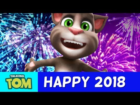 Happy 2018 from Talking Tom