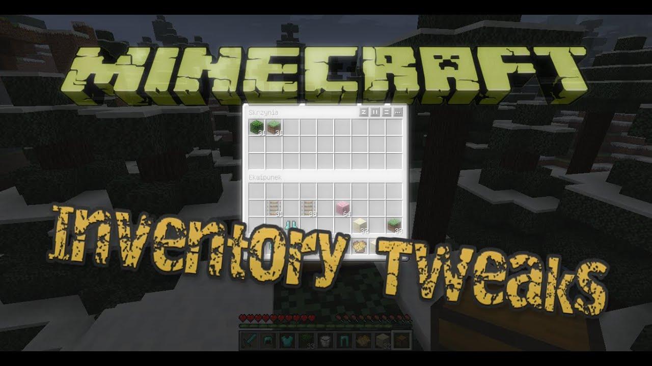 Minecraft Inventory Tweaks 1.4.6 - Minecraft on Mods - YouTube