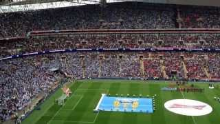 FA Cup Final 2013 | Manchester City 0-1 Wigan Atlethic | National Anthem