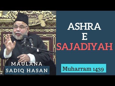 21st Muharram 1439 - 2017 - Majlis by Maulana Sadiq Hasan   Ashra e Sajjadiya