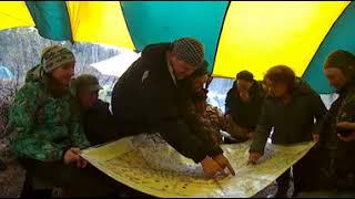 VR 360 video. Река Теба .Берег. Лагерь. Холод. Крутить - смотреть в стороны.