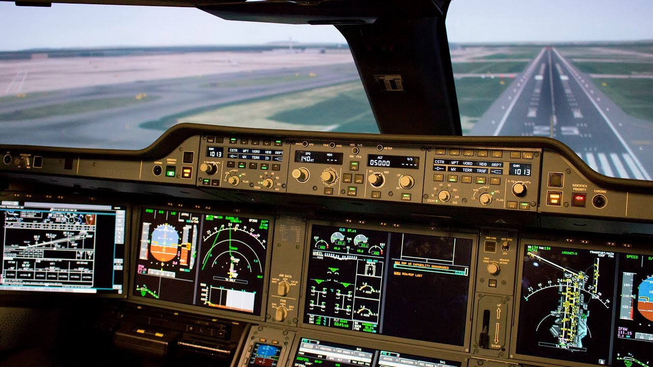 Flugsimulator A350 bei Asiana Airlines