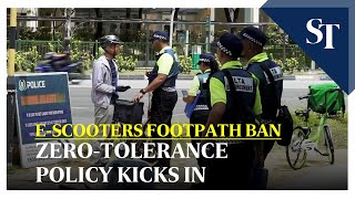 E-scooters footpath ban: Zero-tolerance policy kicks in | The Straits Times