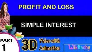 Simple Interest maths class  5 6 7 8 9 10 11 12 tricks, shortcuts,online videos cbse puzzles