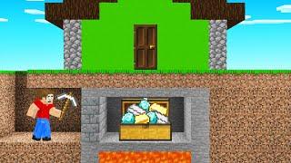 Фото I Found A SECRET BASE Under Jelly's Minecraft House!