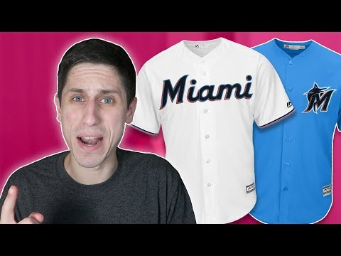 NEW Miami Marlins Logo   Jersey Reaction 826378d80
