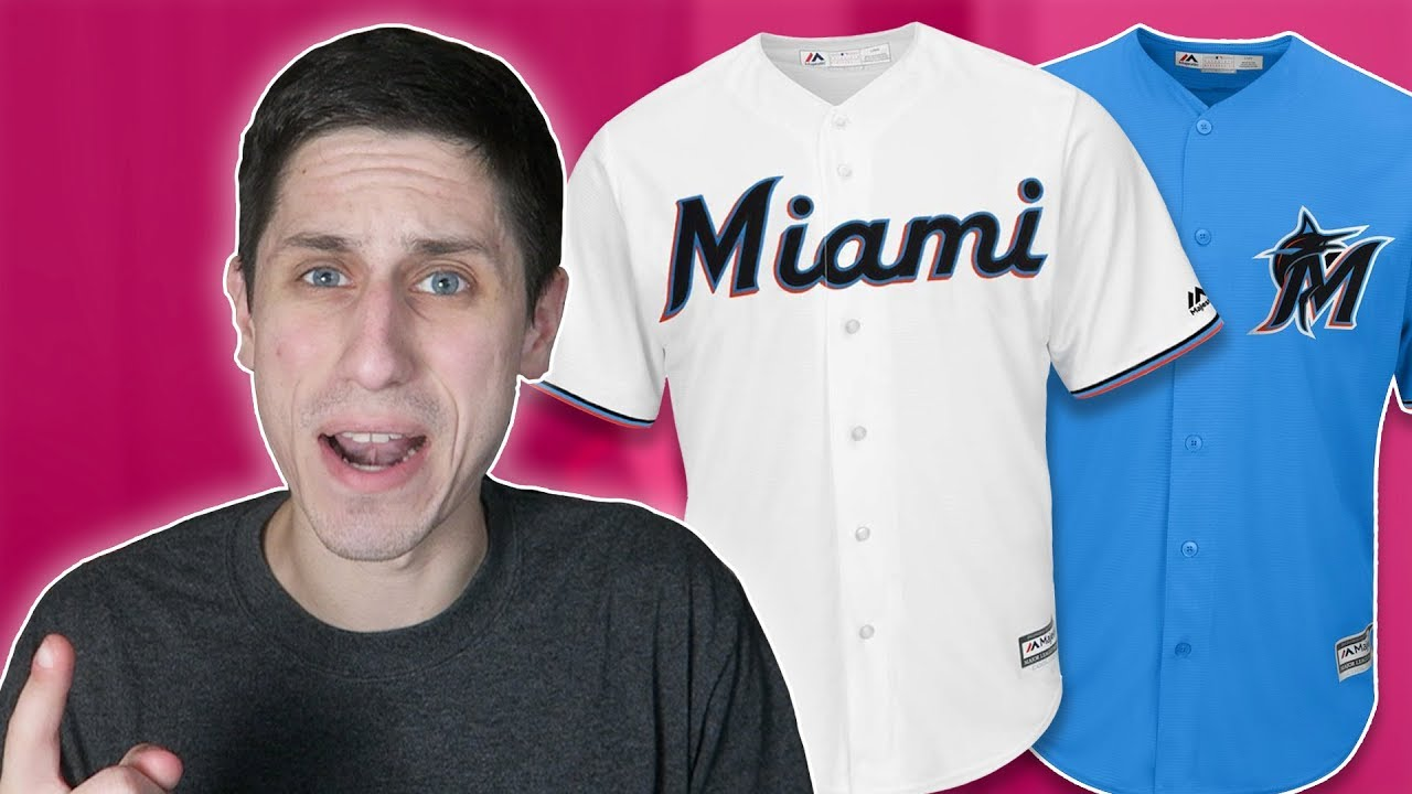 049d22299 NEW Miami Marlins Logo   Jersey Reaction - YouTube