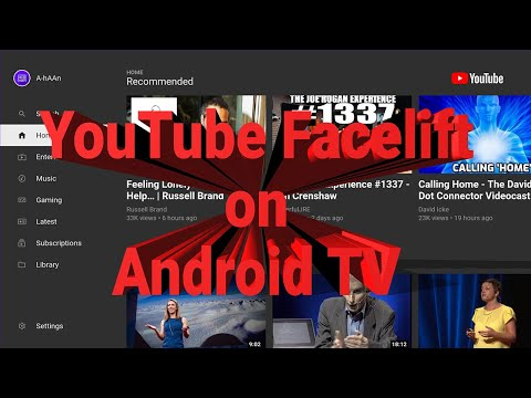Redesigned YouTube for Android TV