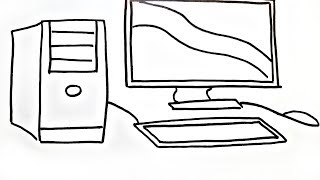 Desktop,Keyboard and Mouse Coloring Pages How To Draw Computer Drawing Computer Kids Coloring Book
