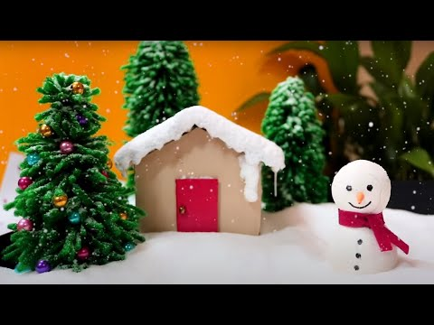 How to Make a Miniature Winer Zen Garden | DIY Miniature Christmas Decorations