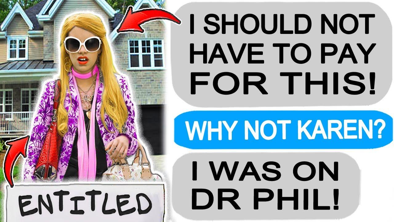 Karen goes on DR PHIL, thinks she's now FAMOUS! r/Entitledparents
