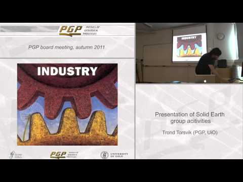 Presentation of Solid Earth group (PGP)