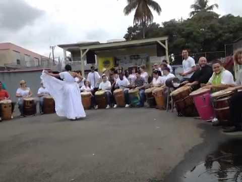 Community Drumming: Bombassa: Barceloneta, Puerto Rico