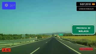 Driving Through Andalucía Spain From Sevilla To Málaga 9 07 2018 Timelapse X4 Youtube