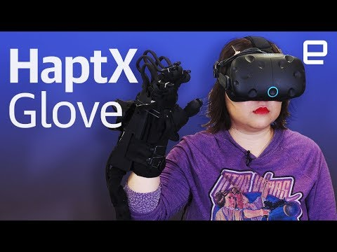 Tactile sensation in VR with HaptX Glove hands-on