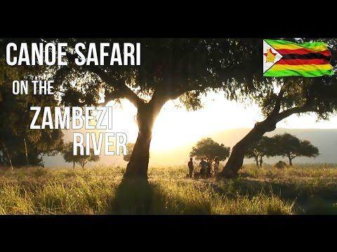Canoe safari on the Zambezi River, Zimbabwe