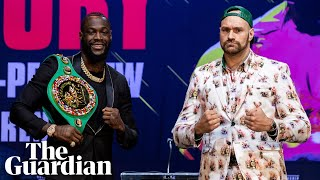 Tyson Fury v Deontay Wilder: War of words ahead of heavyweight title fight
