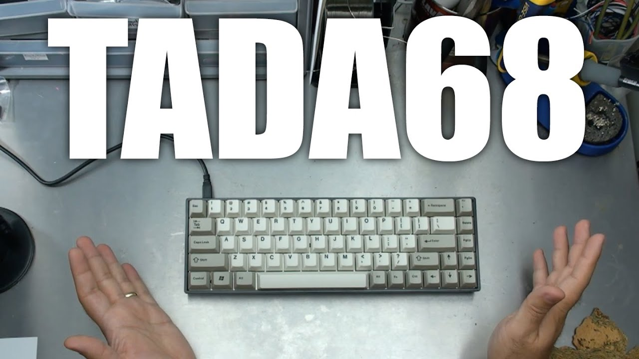 6aab833d7ab TADA68 Mechanical Keyboard unboxing and review - YouTube