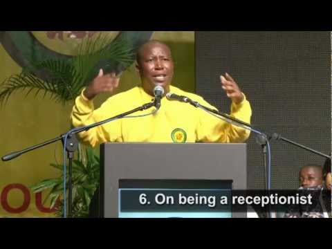 The 10 sayings of president Malema