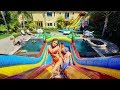 WORLD'S LARGEST BACKYARD WATERPARK!!