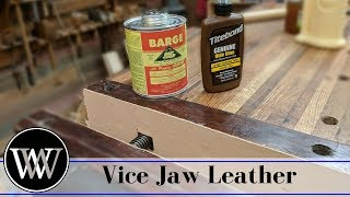 How to Put Leather on Vise Jaws Hide Glue and Contact Cement