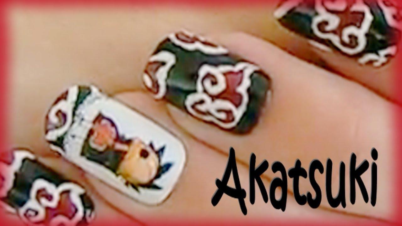 コスプレ Naruto Akatsuki Cosplay Nails Tutorial ナルト Youtube