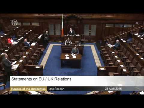 Tommy Broughan's Dáil Statement on EU/UK Relations