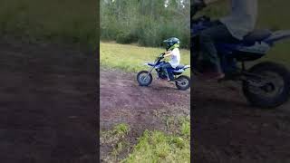 Ridding atv with friend