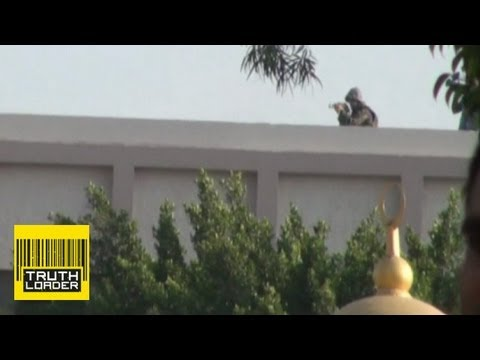 Gunmen on Cairo roof shooting at pro-Morsi protesters - Truthloader
