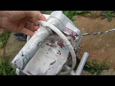 How to deep clean a Krause and Becker airless paint sprayer ( Harbor Freight)