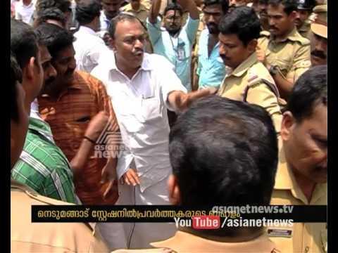 Congress activists attack Nedumangad Police Station to release Culprit | FIR 14 Mar 2016