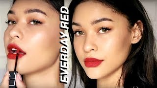 Everyday Red Lip Makeup Look! | Sian Lilly