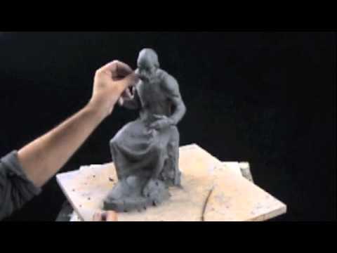 Clay sculpting tutorial - Plato's iPad - YouTube