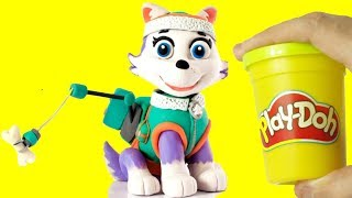 Paw patrol Everest Stop Motion Play Doh claymation animation cartoon for kids