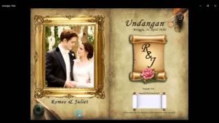 Tutorial Photoshop CS3 - Membuat Desain Undangan Pernikahan bagi Pemula