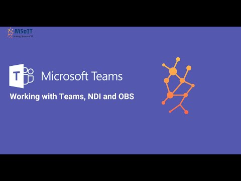 Microsoft Teams, NDI and OBS