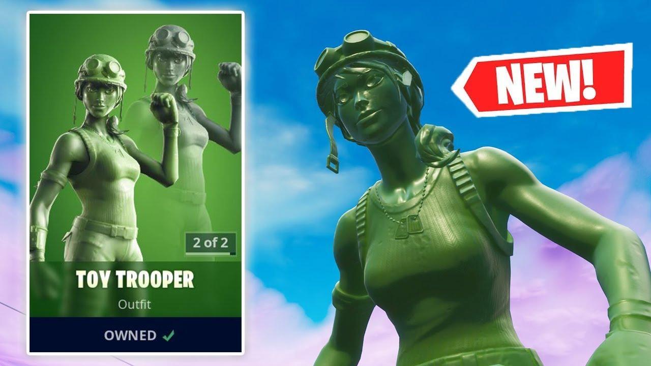 Toy Trooper Fortnite Rarity New Toy Trooper Skin Gameplay In Fortnite Youtube